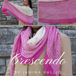 Crescendo Shawl Yarn Pack, pattern not included, dyed to order