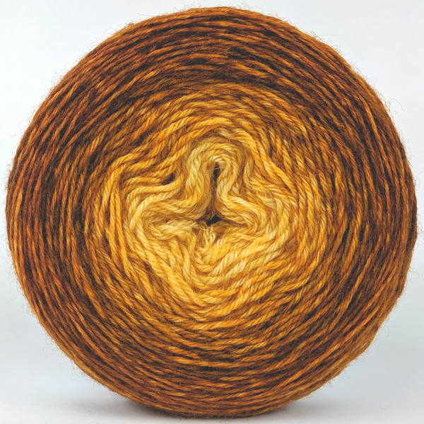 Knitcircus Yarns: Silly Old Bear 100g Chromatic Gradient, Breathtaking BFL, ready to ship yarn