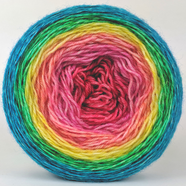 Knitcircus Yarns: Cindy Lou Who 100g Panoramic Gradient, Breathtaking BFL, ready to ship yarn