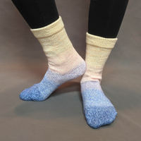 Knitcircus Yarns: Rise and Shine Panoramic Gradient Matching Socks Set (medium), Greatest of Ease, ready to ship yarn