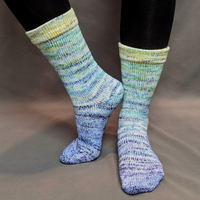Knitcircus Yarns: You Are My Sunshine Impressionist Matching Socks Set (large), Greatest of Ease, choose your cakes, ready to ship yarn