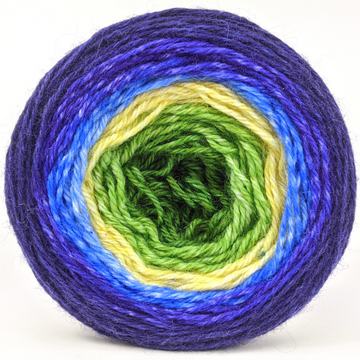 Knitcircus Yarns: Forget Me Knot 100g Panoramic Gradient, Corriedale, ready to ship yarn - SALE