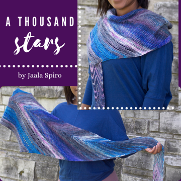A Thousand Stars Shawl Yarn Pack, pattern not included, dyed to order