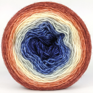 Knitcircus Yarns: Bad Moon on the Rise 100g Panoramic Gradient, Breathtaking BFL, ready to ship yarn