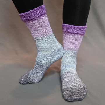 Knitcircus Yarns: Joie de Vivre Panoramic Gradient Matching Socks Set (medium), Greatest of Ease, ready to ship yarn
