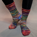 Knitcircus Yarns: Renegade Unicorn Abstract Matching Socks Set (medium), Greatest of Ease, choose your cakes, ready to ship yarn