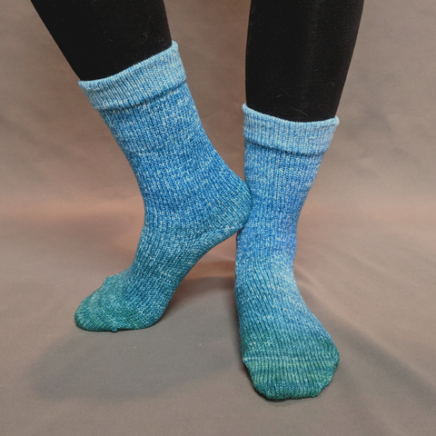 Lothlorien Panoramic Gradient Matching Socks Set (large), Opulence, ready to ship