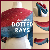 Dotted Rays Shawl Yarn Pack, pattern not included, ready to ship