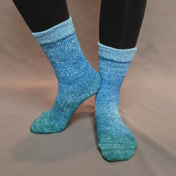 Knitcircus Yarns: Lothlorien Panoramic Gradient Matching Socks Set, dyed to order yarn