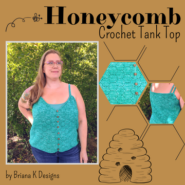 Honeycomb Crochet Tank Top Yarn Pack, pattern not included, ready to ship