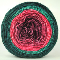 Knitcircus Yarns: Deck The Halls 100g Panoramic Gradient, Breathtaking BFL, ready to ship yarn