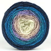 Knitcircus Yarns: Counting Sheep 100g Panoramic Gradient, Flying Trapeze, ready to ship yarn