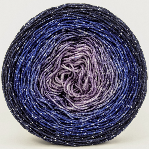 Knitcircus Yarns: Dream A Little Dream 100g Chromatic Gradient, Sparkle, ready to ship yarn