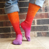 Fashion Week Panoramic Gradient Matching Socks Set, dyed to order