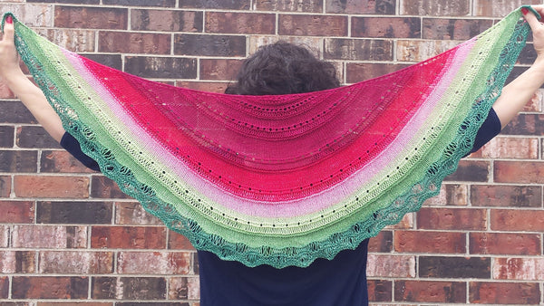 Knitcircus Yarns: Watermelon Panoramic Gradient, dyed to order yarn