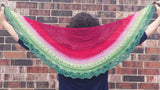 Watermelon Panoramic Gradient, dyed to order