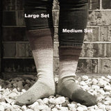 Peace, Love, and Understanding Panoramic Gradient Matching Socks Set (medium), Greatest of Ease, ready to ship
