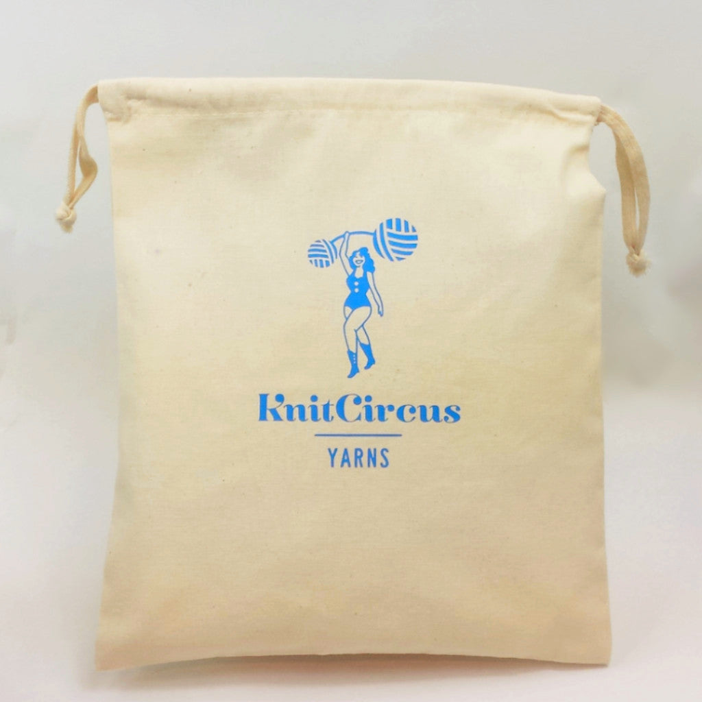Knitcircus Logo Canvas Project Bag, Small, ready to ship