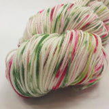 Watermelon Speckled Handpaint Skeins, dyed to order
