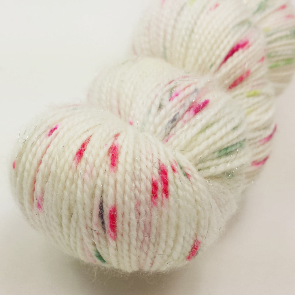 Watermelon 100g Speckled Handpaint skein, Fairy Dust, ready to ship