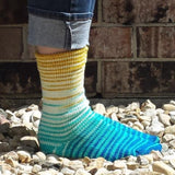 Welcome Back Sun Gradient Striped Matching Socks Set, dyed to order