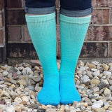 Turquoise Pool Chromatic Gradient Matching Socks Set (medium), Greatest of Ease, ready to ship