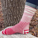 Badger Tracks Gradient Striped Matching Socks Set (large), Trampoline, ready to ship
