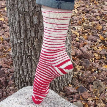 Knitcircus Yarns: Badger Tracks Gradient Striped Matching Socks Set (large), Greatest of Ease, ready to ship yarn