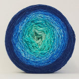 Snowfire Double Knit Blanket by Lucy Neatby Yarn Pack, dyed to order
