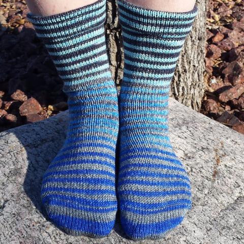April Skies Extreme Striped Matching Socks Set (medium), Greatest of Ease, ready to ship