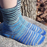 April Skies Extreme Striped Matching Socks Set, dyed to order