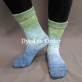 Knitcircus Yarns: Beach Glass Panoramic Gradient Matching Socks Set, dyed to order yarn