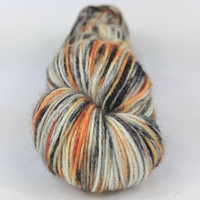Knitcircus Yarns: Trick or Treat 100g Speckled Handpaint skein, Breathtaking BFL, ready to ship yarn