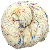 Knitcircus Yarns: Over the Rainbow 100g Speckled Handpaint skein, Flying Trapeze, ready to ship yarn