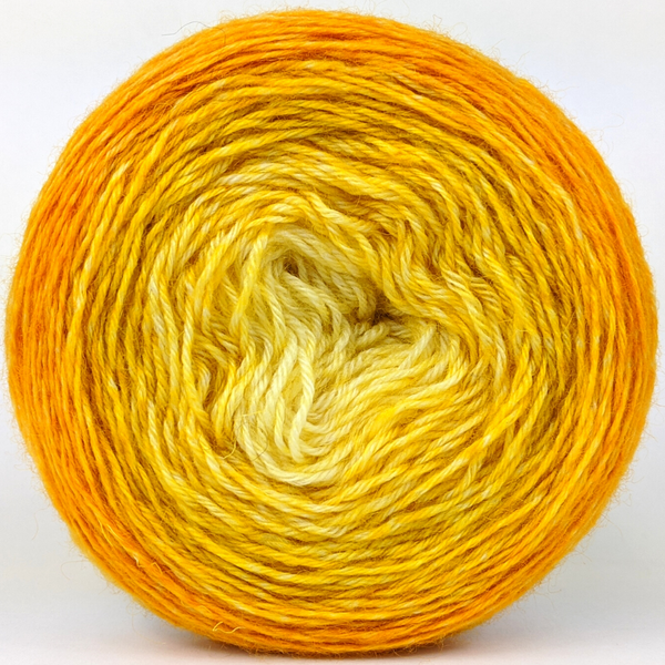 Knitcircus Yarns: All the Bacon and Eggs You Have 100g Chromatic Gradient, Breathtaking BFL, ready to ship yarn