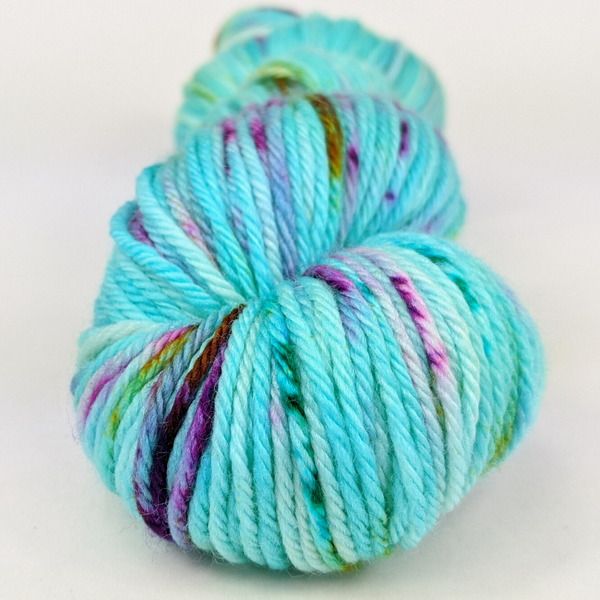 Knitcircus Yarns: We Scare Because We Care 100g Speckled Handpaint skein, Ringmaster, ready to ship yarn