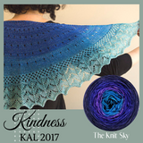 Kindness KAL Shawl Kit, dyed to order