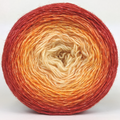 Knitcircus Yarns: Peachy Keen 150g Panoramic Gradient, Breathtaking BFL, ready to ship yarn