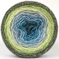 Knitcircus Yarns: Growing Like A Weed 150g Panoramic Gradient, Breathtaking BFL, ready to ship yarn