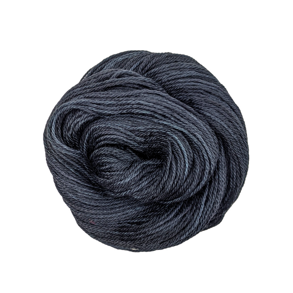 Knitcircus Yarns: Quoth the Raven 50g Kettle-Dyed Semi-Solid skein, Opulence, ready to ship yarn