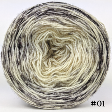 Knitcircus Yarns: Cookies and Cream 100g Impressionist Gradient, Breathtaking BFL, choose your cake, ready to ship yarn