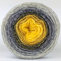 Knitcircus Yarns: Brass and Steam 150g Panoramic Gradient, Breathtaking BFL, ready to ship yarn