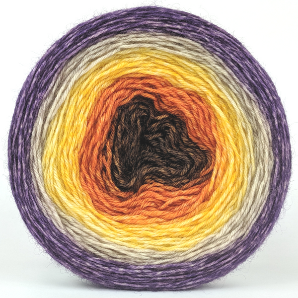 Knitcircus Yarns: Pumpkin to Talk About 150g Panoramic Gradient, Breathtaking BFL, ready to ship yarn