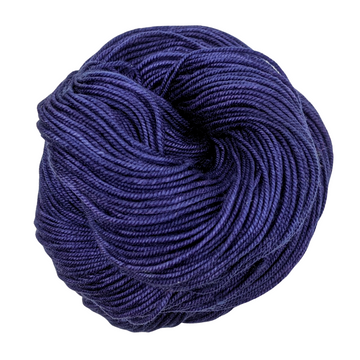 Knitcircus Yarns: Midnight Moon 50g Kettle-Dyed Semi-Solid skein, Trampoline, ready to ship yarn