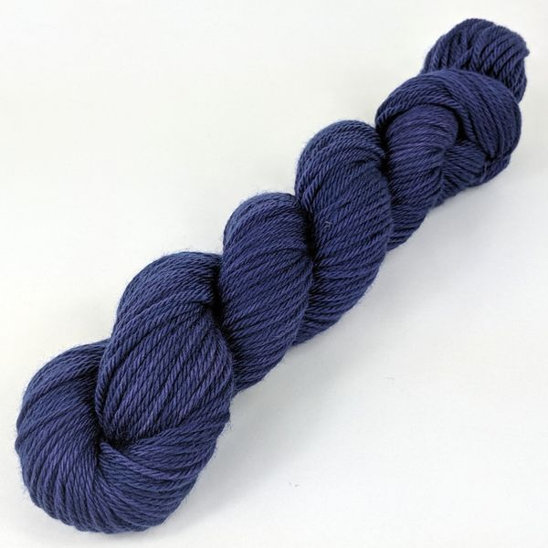 Knitcircus Yarns: Midnight Moon 100g Kettle-Dyed Semi-Solid skein, Ringmaster, ready to ship yarn