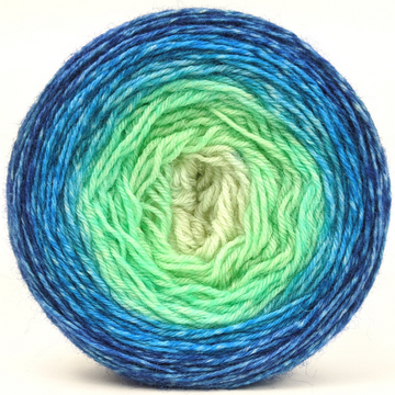 Knitcircus Yarns: Stardew Valley 100g Panoramic Gradient, Breathtaking BFL, ready to ship yarn