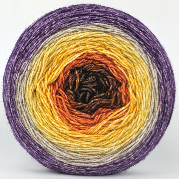 Knitcircus Yarns: Pumpkin to Talk About 150g Panoramic Gradient, Trampoline, ready to ship yarn
