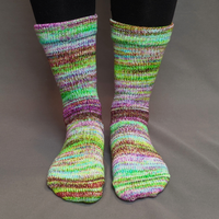 Knitcircus Yarns: Electric Mayhem Modernist Matching Socks Set, dyed to order yarn