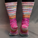 Knitcircus Yarns: Backyard Bouquet Modernist Matching Socks Set, dyed to order yarn