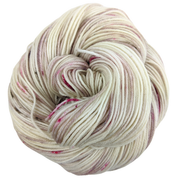Knitcircus Yarns: Champagne and Strawberries 100g Speckled Handpaint skein, Greatest of Ease, ready to ship yarn